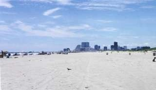 Beach with Atlantic City in view