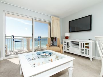 Fort Walton Beach condo rental - Living room with a view!