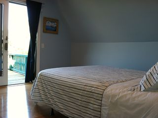 Wellfleet house photo - Bedroom #4 - Queen bed with private deck, wonderful natural light and breezes