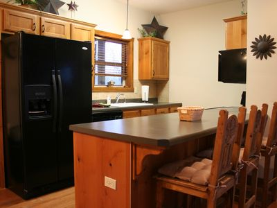 Large Side by Side Fridge, Stove, Microwave,