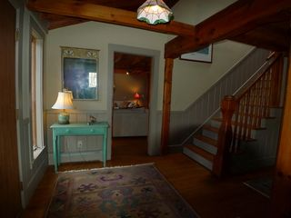 Chilmark farmhouse photo - The foyer shows the entrance to the Living Room which you'll see later