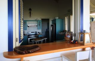 Las Terrenas villa photo - Kitchen from dining area.