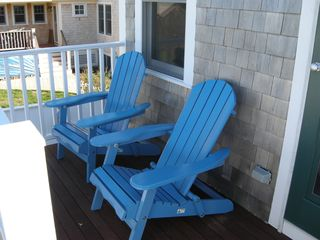 Provincetown condo photo - Adirondacks on deck