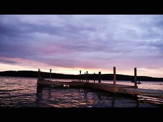 Lake Wallenpaupack house photo - The dock at sunsert