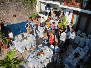 Elegant patio for entertaining guests with outdoor grill. - Puerto Vallarta house vacation rental photo