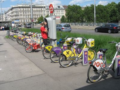 1st hour free - CITY BIKE rental Vienna - station is near the apartment
