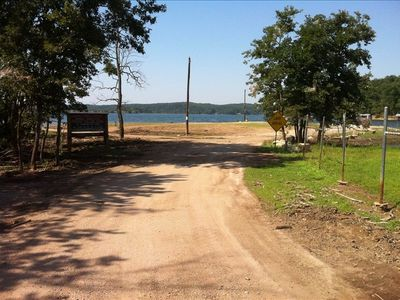 Arkansas house rental - Lake access is just 1 minute away from the home, large beach /swimming area/ramp