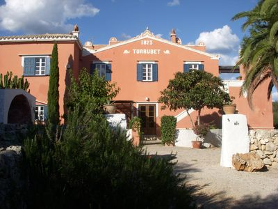 Finca surrounded by gardens with pool, tennis and ecological farm near the sea