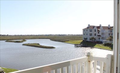 balcony view of saltwater pond