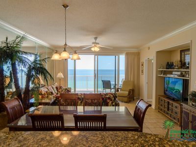 Absolutely stunning views, even from the kitchen!  Yes, this property really does look like these photos!