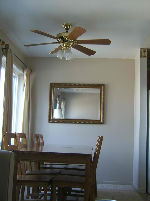 2nd Dining Area, seats 8, ceiling fan