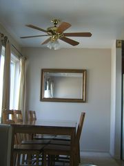2nd Dining Area, seats 8, ceiling fan - Brigantine townhome vacation rental photo