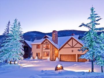 Beaver Creek house rental - Fresh Snow at Dusk with Seasonal Tree Lights