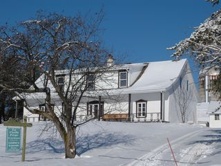 Quebec City farmhouse photo - Winter house scene on 2 acres of snow