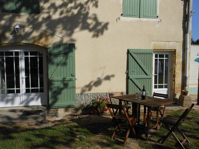 Green Shutters Gite In SW France. Village Location. Heated Swimming Pool.