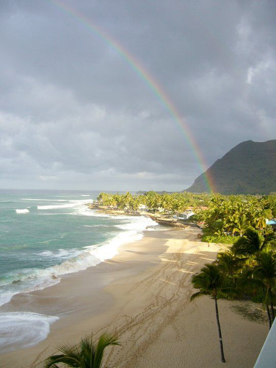 A beautiful Rainbow viewed from the Lanai