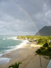 Makaha condo photo - A beautiful Rainbow viewed from the Lanai