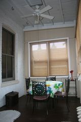 Chicago apartment photo - Enclosed porch area, many windows, ceiling fan