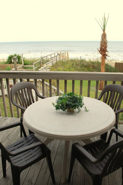 Dine outdoors on the lower deck and watch the waves!
