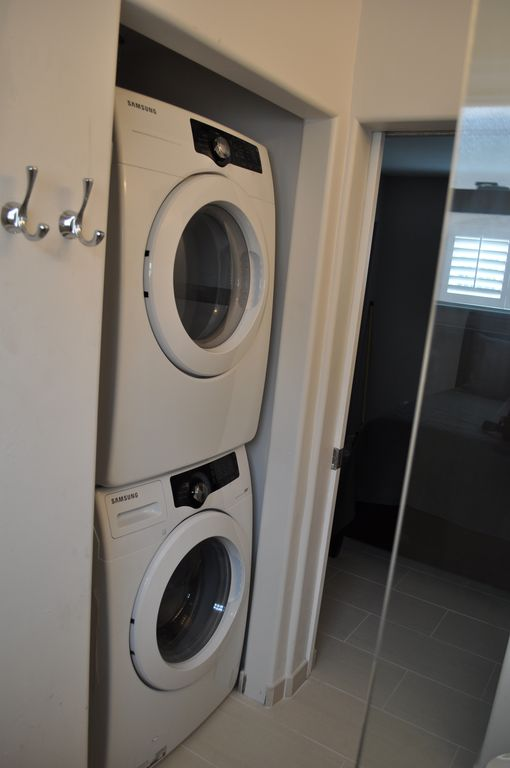 High efficiency washer dryer.