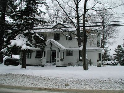 Outside view of house in winter