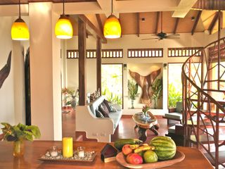 Uvita villa photo - You really want to be here! Living room seen from kitchen.