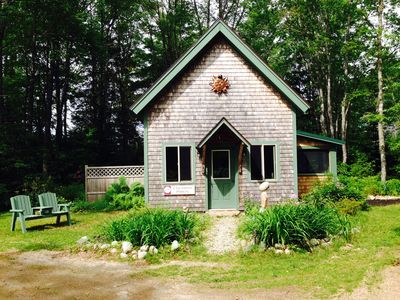 Secluded cottage on the Bagaduce River, pristine tidal estuary of Penobscot Bay