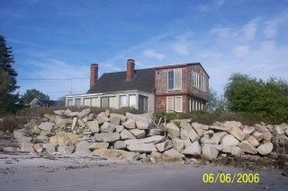 Biddeford house photo - From closer on the short beach.