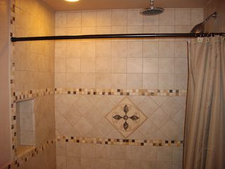 Palm Springs condo photo - Walk-in shower with rain shower head