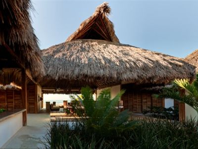 Open spaces and the palapa allow the breeze to touch every corner of the house