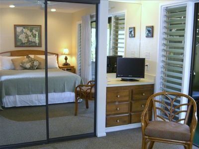 Your comfy kingsize bed in spacious bedroom