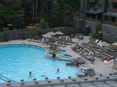 Take a swim in the heated pool and enjoy the outdoor hot tubs...