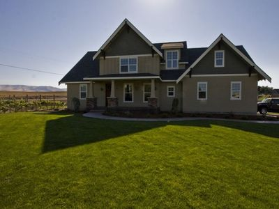 Walla Walla Valley house rental - Front View House/Mountains/Vineyard
