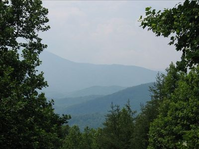 "VIEW FROM THE LARGE DECK AT ""MOUNTAIN MAGNOLIA"""