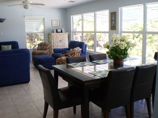 Little Torch Key house photo - Spacious open dining area with comfortable seating for 8.