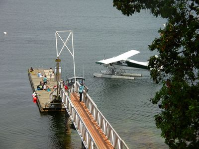 Some guests arrive by private float plane