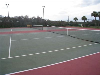 Crescent Beach townhome rental - Tennis Anyone---Six Courts--Night Lighting--New Surface & Nets