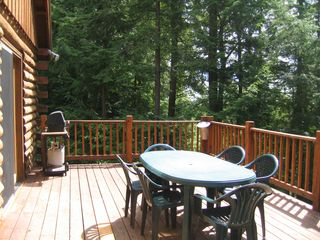Jay Peak cabin photo - The Deck - bbq and table
