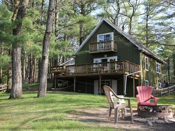 Wisconsin Dells house rental - Located in the pine trees on lake delton with large main floor deck.