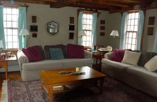 Chilmark farmhouse photo - This is the family rm which has a flat screen out of frame and fishing trophies