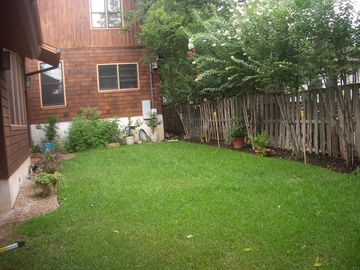 Newly completed backyard landscape..