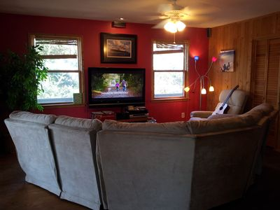 TV Room - HGTV Dish Network with surround sound