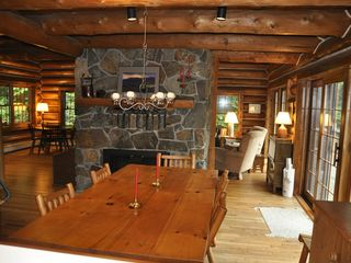 Piseco Lake lodge photo - Dining Area in Great Room.