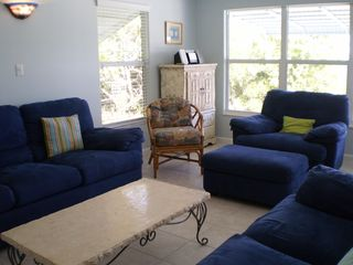 Little Torch Key house photo - Living room looking out towards waterfromt and pool.