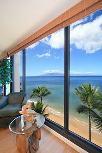 See the Island of Lanai and Your Beautiful Beach Below!