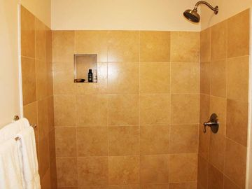 Step in Travertine shower