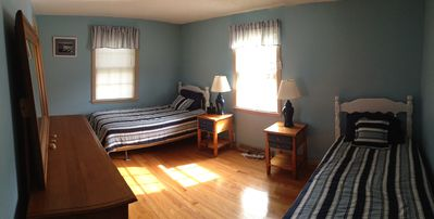 Falmouth house rental - Another bedroom on first floor with two twins