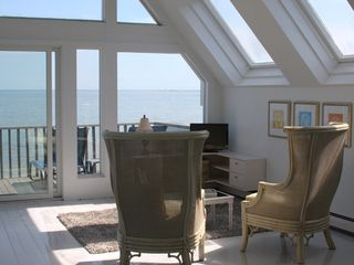 Provincetown condo photo - Deck off master bedroom and ocean beyond.