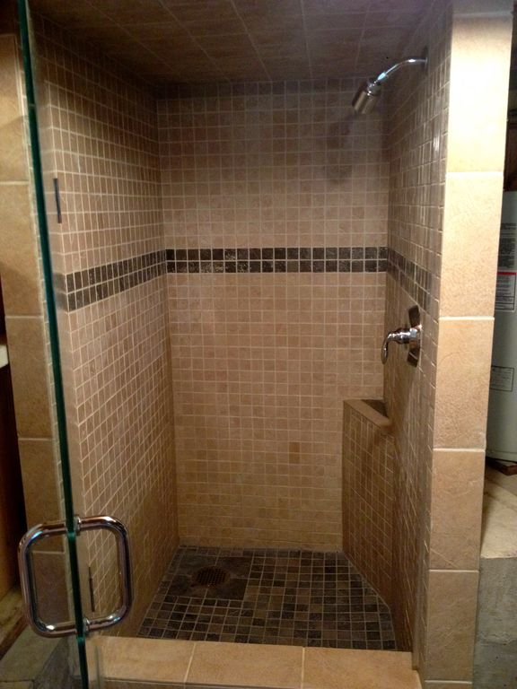 Shower in the basement workshop room. Yes...you have to walk outside to shower!
