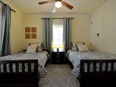 Upstairs guest bedroom with 2 full